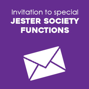 Invitation to special Jester Society Functions
